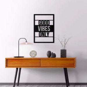 Metalen wanddecoratie - Good Vibes Only