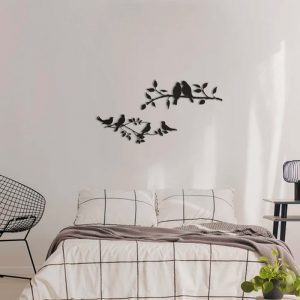 Metalen wanddecoratie - Tree Bird