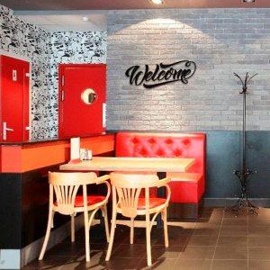 Metalen wanddecoratie - Welcome