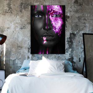 Purple Women zwart paars poster