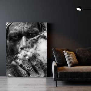 Smoking Guy zwart wit poster