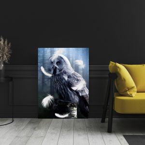 White Owl dieren poster