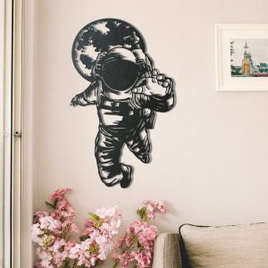 Metalen wanddecoratie - Astronaut
