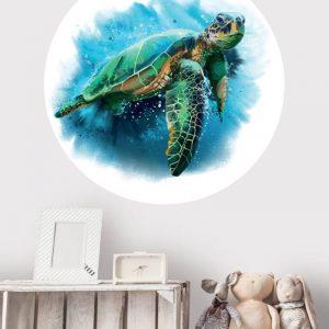 Behangcirkel - Schildpad