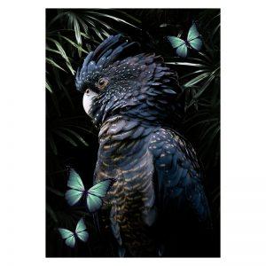 Aluminium Dibond Plexiglas Cockatoo botanische dieren poster
