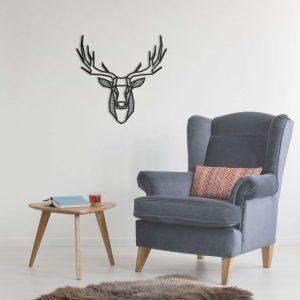 Metalen wanddecoratie - Deer