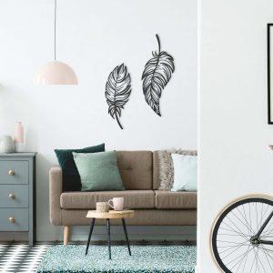 Metalen wanddecoratie - Feathers