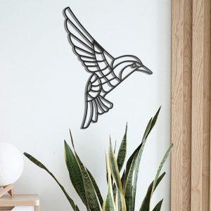 Metalen wanddecoratie - Abstract Bird
