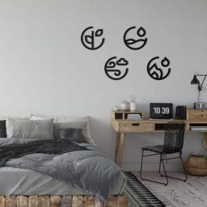 Metalen wanddecoratie - Clean Elements