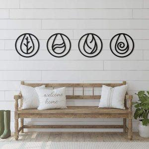 Metalen wanddecoratie - Nature Elements