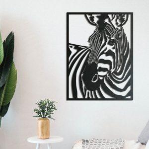 Metalen wanddecoratie - Zebra