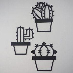 Metalen wanddecoratie - Abstract Cactus