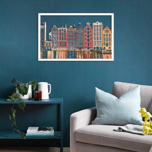 Metalen wanddecoratie - Amsterdam Color