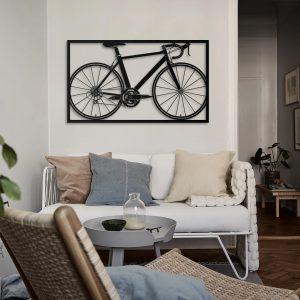 Metalen wanddecoratie - Bike