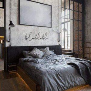 Metalen wanddecoratie - BlaBlaBla