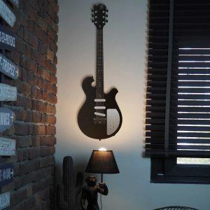 Metalen wanddecoratie - Guitar
