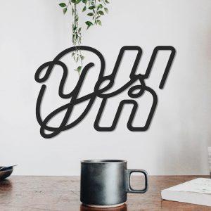 Metalen wanddecoratie - Oh Yes
