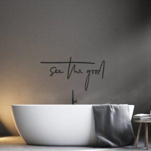 Metalen wanddecoratie - See the Good
