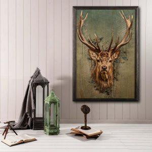 Houten poster - Deer