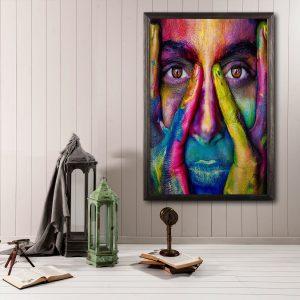 Houten poster - Face