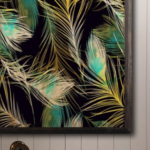 Houten poster - Feathers