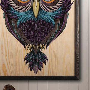 Houten poster - Owl