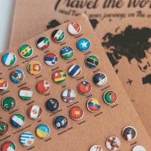 Wereldkaart Vlaggen