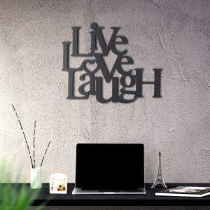 Metalen wanddecoratie - Live Love Laugh