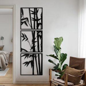 Metalen wanddecoratie - Bamboo