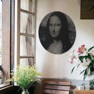 Metalen wanddecoratie - Mona Lisa Cirkel