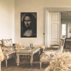 Metalen wanddecoratie - Mona Lisa
