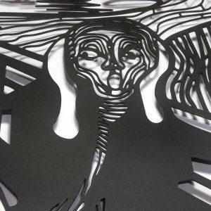Metalen wanddecoratie - The Scream