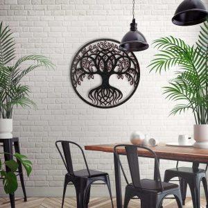 Metalen wanddecoratie - Tree of Life