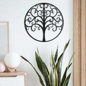 Metalen wanddecoratie - Life Tree