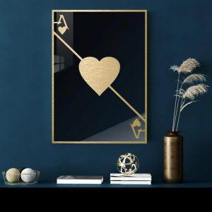 3D Aluminium poster - Ace Gold