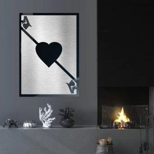 3D Aluminium poster - Ace Silver