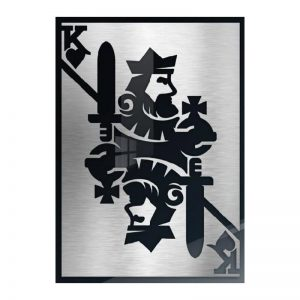 3D Aluminium poster - King Silver 1