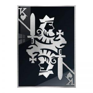 3D Aluminium poster - King Silver 2