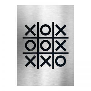 3D Aluminium poster - Tic Tac Toe 1
