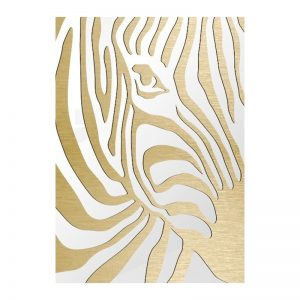3D Aluminium poster - Zebra Gold 1