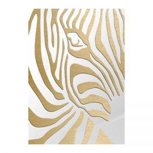 3D Aluminium poster - Zebra Gold 2