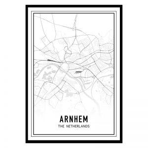 Arnhem city maps poster