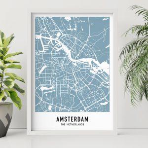 City Map - Blauw