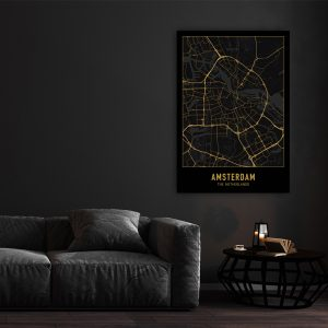 City Map - Zwart Goud