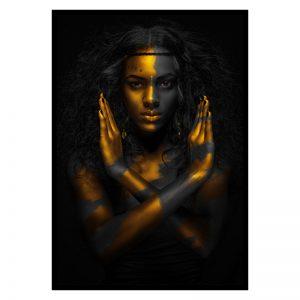 Fighting Women zwart goud poster
