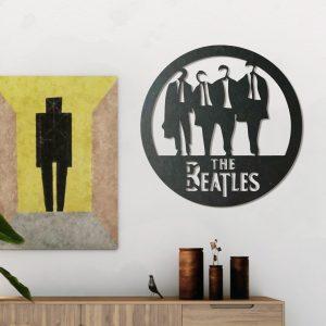 Metalen wanddecoratie - The Beatles