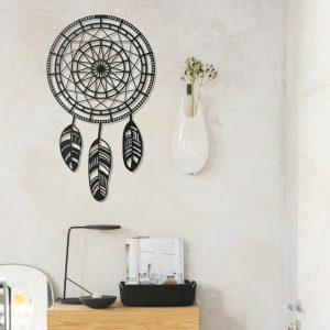 Metalen wanddecoratie - Dreamcatcher