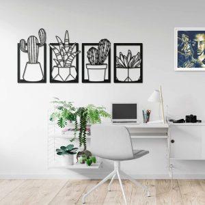 Metalen wanddecoratie - Cacti