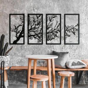 Metalen wanddecoratie - Crooked Tree
