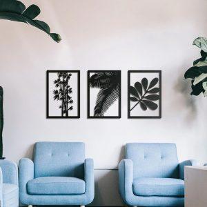 Metalen wanddecoratie - Leaves